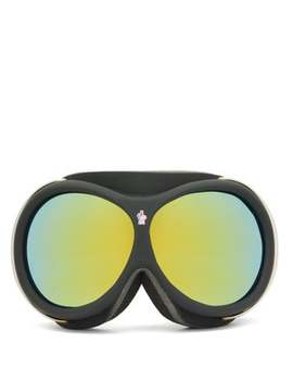 Logo Jacquard Strap Ski Goggles by Moncler