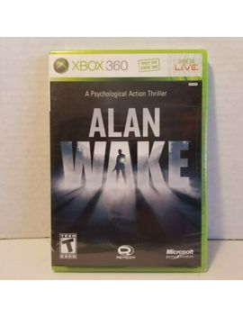 Alan Wake Xbox 360 2010 New Sealed Cib Complete Remedy Microsoft Game Studios by Ebay Seller
