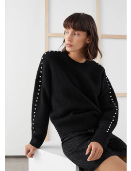 Rhinestone Embellished Sweater by & Other Stories
