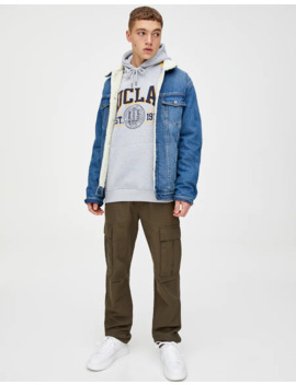 Ucla X Pull&Bear Hoodie With Stripes by Pull & Bear