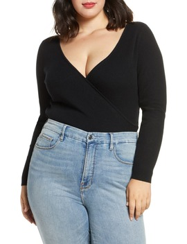 Ribbed Wrap Front Sweater by Leith