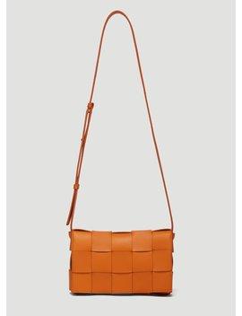 Intreccio Cassette Bag In Orange by Bottega Veneta
