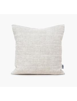 Natural Linen Cushion Cover White Stripe Pillow Covers Linen Pillow Case, Modern Pillow Cover Euro Sham Linen, Throw Pillow Cover Minimal by Etsy
