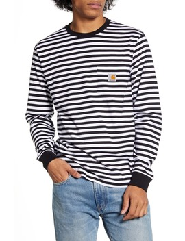 Haldon Stripe Long Sleeve Pocket T Shirt by Carhartt Work In Progress