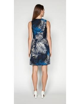 Palm Pique Zip Front Dress by Cue
