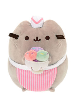 Pusheen® Medium Ice Cream Parlor Plush Toy   Gray by Claire's