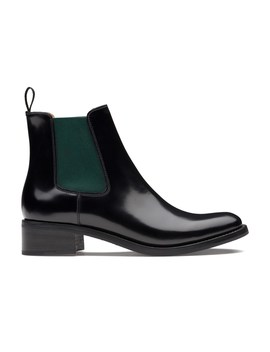 Polished Fumè Chelsea Boot Black/Military Green by Church's Footwear