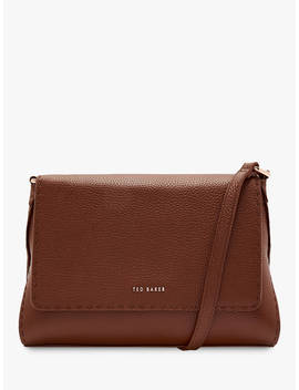 Ted Baker Arista Small Leather Tote Bag, Brown by Ted Baker