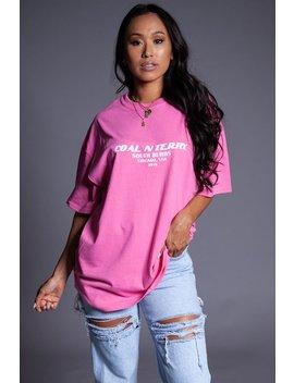 Pink N White Burbs Tee by Coal N Terry