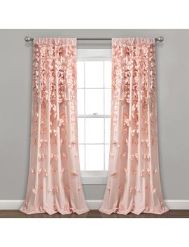 Riley Window Curtain Panel Blush Single 54x84 by Lush Decor