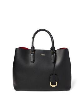 Leather Marcy Satchel by Lauren Ralph Lauren