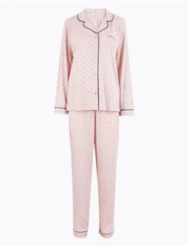 Cool Comfort™ Cotton Modal Spot Print Pyjama Set by Marks & Spencer