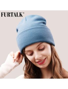 Furtalk Beanie Hat For Women Men Winter Hat Knitted Autumn Skullies Hat Unisex Ladies Warm Bonnet Cap Korean Black Red Cap by Ali Express.Com