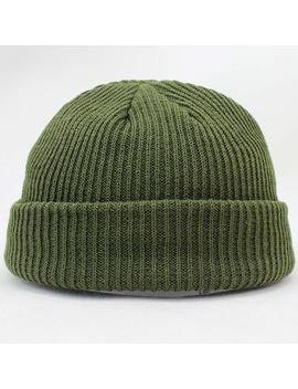 Short Design Warm Knitted Solid Hat Women Men Cable Beanie Unisex Cap Fashion Hip Hop Skullies by Ali Express.Com