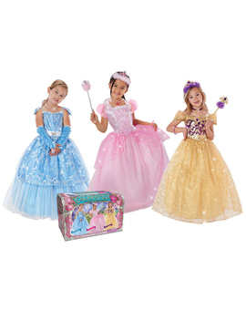 Enchanted Fairytale Princess Dress Up Chest With Three Princess Dresses by Teetot & Company Inc