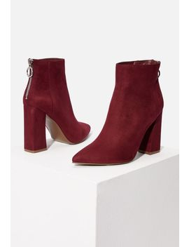 Audrina Heeled Ankle Boot by Justfab