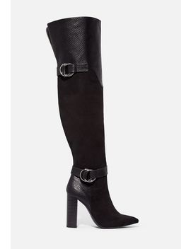 Roxanne Block Heel Boot by Justfab