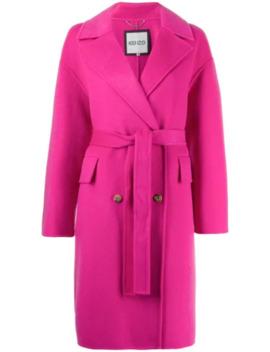 двубортное пальто с поясом by Kenzo