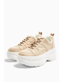 Cali Taupe Chunky Sneakers by Topshop
