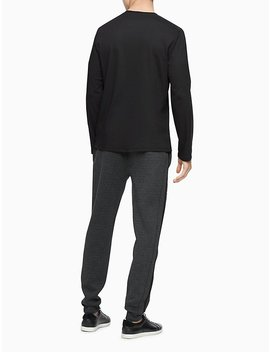 Regular Fit Mixed Media Crewneck Sweatshirt by Calvin Klein