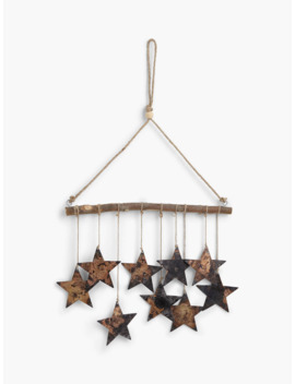 John Lewis & Partners Campfire Metal Stars Hanging Decoration by John Lewis & Partners
