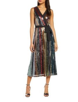 Multicolored Sequin Midi Dress by Julia Jordan
