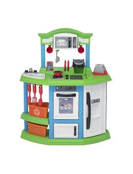 American Plastic Toys Cozy Comfort Play Kitchen With 22 Piece Accessory Set by American Plastic Toys