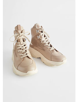 High Top Leather Sneakers by & Other Stories