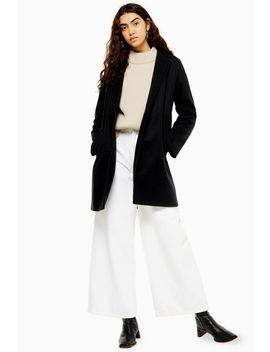 Black Classic Coat by Topshop