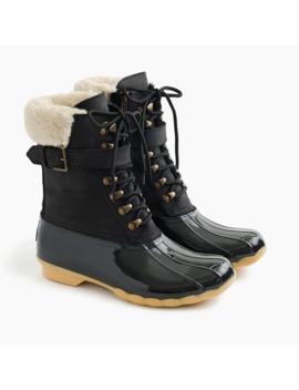 Women's Sperry® For J.Crew Shearwater Buckle Boots In Black by Women's Sperry