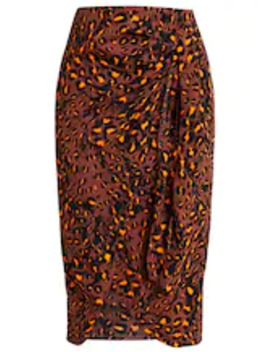 Brushed Leopard Sarong Skirt   Pencil Skirt by Whistles