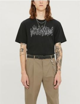 Hallusainations Cotton Jersey T Shirt by Allsaints