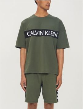 Logo Oversized Cotton Jersey T Shirt by Calvin Klein