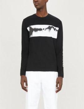 Tie Dye Long Sleeve Cotton Jersey Top by Ck Jeans