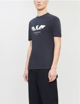 Skyline Logo Print Cotton T Shirt by Emporio Armani
