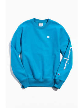 Champion Uo Exclusive Reverse Weave Embroidered Crew Neck Sweatshirt  by Champion