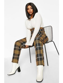 Plus High Waisted O Ring Wide Leg Trouser by Boohoo
