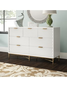 White Francesca 7 Drawer Double Dresser by Modern Rustic Interiors