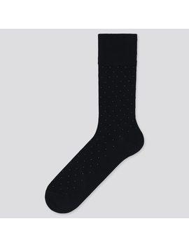Men Supima Cotton Dotted Socks by Uniqlo