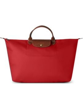 Le Pliage Medium Travel Bag In Red by Longchamp