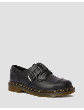 Quynn Buckle Leather Shoes by Dr. Martens