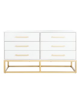 White Maxson 6 Drawer Double Dresser by Mercer41
