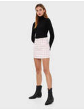 Μίνι φούστα με ζώνη by Bershka