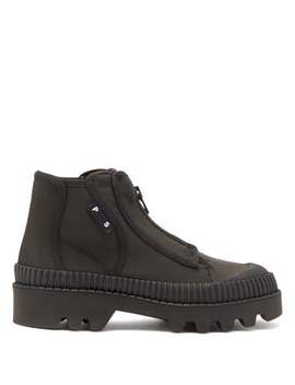 Zip Up Rubber And Canvas Boots by Proenza Schouler
