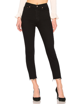 Nico High Rise Slim Fit In Raven by Agolde