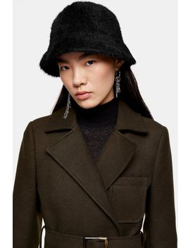Black Fluffy Bucket Hat by Topshop