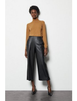 Cropped Pu Trousers Cropped Pu Trousers by Karen Millen
