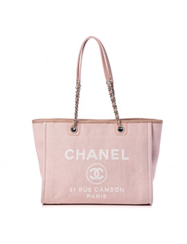 Chanel Canvas Deauville Small Tote Pink by Chanel