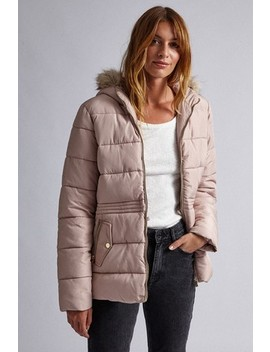 Dorothy Perkins Short Fur Padded Jacket by Next