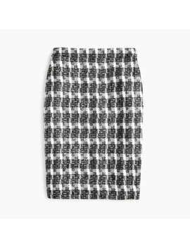 No. 2 Pencil® Skirt In Overize Houndstooth by No. 2 Pencil